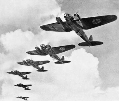 German Luftwaffe in Bombing Formation