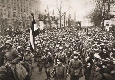 Tentara Jerman Pulang Setelah Perjanjian Versailles