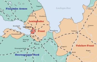Peta Pengepungan Leningrad Pada 1941