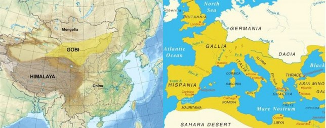 Gurun Sahara dan Gobi