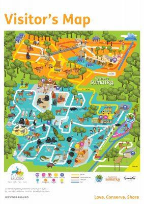 Peta Bali Zoo